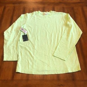 NWT Wilfred Free Neon Chartreuse Top - Size S